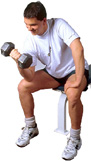 fit guy with dumbbells image